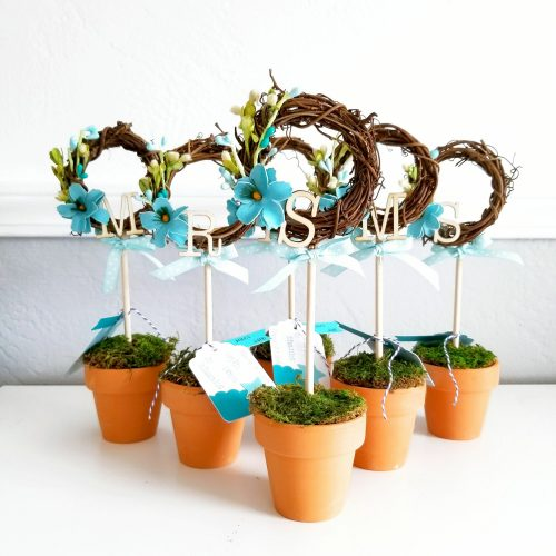 Mini Spring Potted Wreaths